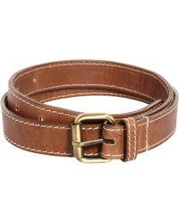 Asos Asos Edge Stitch Leather Belt - Lyst