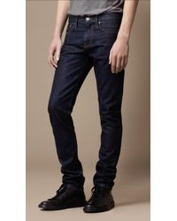 Burberry Shoreditch Indigo Rinse Skinny Fit Jeans - Lyst