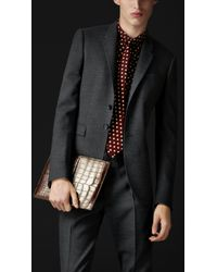 Burberry Prorsum Skinny Fit Compact Wool Twill Jacket - Lyst