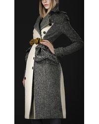 Burberry Prorsum Cotton Tweed Trench Coat - Lyst