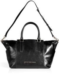 Marc By Marc Jacobs Large Black Burge Box Satchel Bag - Lyst