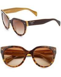 Prada Round Cat'S-Eye Acetate Sunglasses - Lyst
