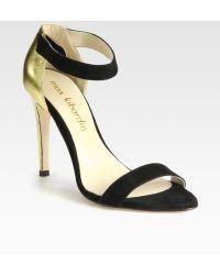 Max Kibardin - Suede Annd Metallic Leather Sandals - Lyst