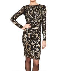Emilio Pucci Embroidered Stretch Silk Georgette Dress - Lyst