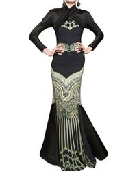 Etro Silk Satin On Printed Viscose Cady Dress - Lyst