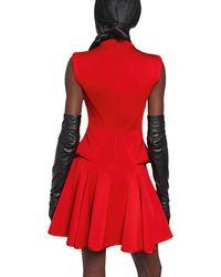 Givenchy Flared Viscose Punto Milano Dress - Lyst