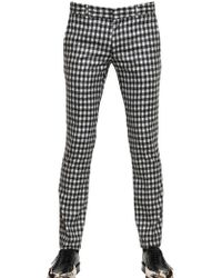 John Galliano Wool Check Suiting Luciano Trousers - Lyst