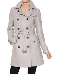 Burberry Brit Balmoral Double Wool Twill Coat - Lyst