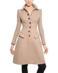 Burberry Prorsum Heavy Wool Jersey Coat - Lyst