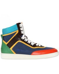 DSquared² Tech Canvas Leather High Sneakers - Lyst