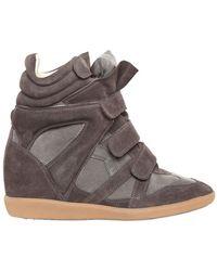 Isabel Marant 80mm Bekett Suede Sneakers - Lyst
