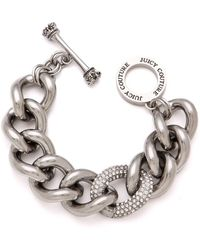 Juicy Couture - Pave Link Bracelet - Lyst