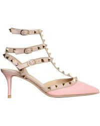 Valentino 65mm Rock Stud Patent Pointy Pumps - Lyst