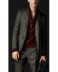 Burberry Prorsum Skinny Fit Contrast Panel Jacket - Lyst