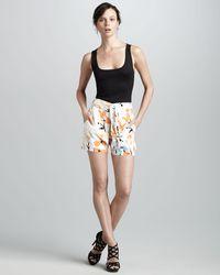 Diane von Furstenberg Jansen Printed Shorts - Lyst