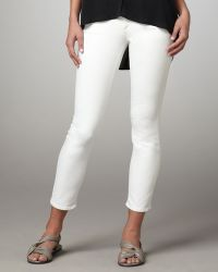 Vince Cropped Skinny Jeans White - Lyst