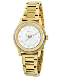 Breil Womens Gold Ion Plated Stainless Steel Bracelet 41mm - Lyst