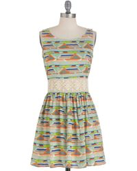 ModCloth Yes You Canyon Dress in Green - Lyst