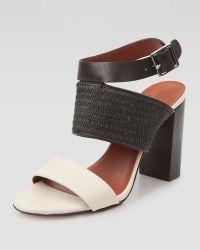 Elizabeth And James Block Ankle-Strap Sandals - Lyst
