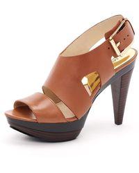 MICHAEL Michael Kors Carla Platform Sandals - Lyst