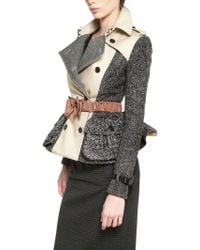 Burberry Prorsum Wool Tweed Double Cotton Twill Jacket - Lyst