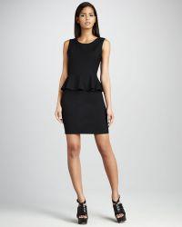 DKNY - Sleeveless Peplum Dress - Lyst