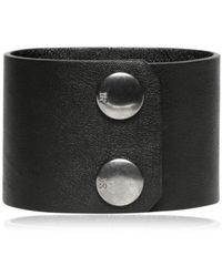 John Richmond - Calfskin Leather Skull Bracelet - Lyst