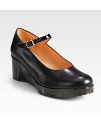 Robert Clergerie Leather Mary Jane Wedge Pumps - Lyst