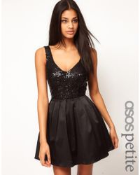 Asos Prom Dress with Sequin Top - Lyst