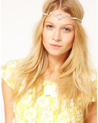 Asos Diamante Tiara Stretch Headband - Lyst