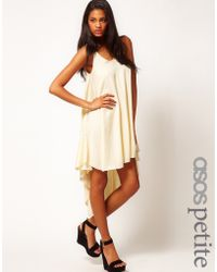 ASOS - Asos Swing Dress with High Low Hem - Lyst