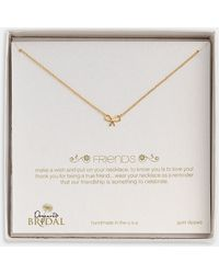 Dogeared 'Friends - Bow' Pendant Necklace - Lyst