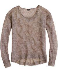 J.Crew Linen Sparkle Scoopneck Sweater - Lyst