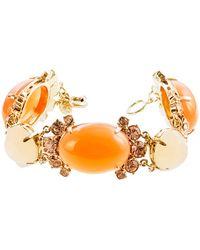 J.Crew Cabochon Fan Bracelet orange - Lyst