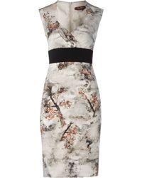 Max Mara Studio Urago Waisted Front Pleated Dress - Lyst