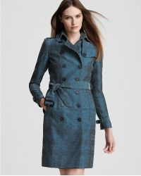 Burberry London Wadefield Double Breasted Check Trench Coat - Lyst