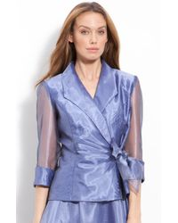 Alex Evenings Side Tie Organza Blouse - Lyst