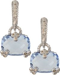 Judith Ripka - Gothic Cushion-Cut Earrings - Lyst