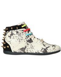 Reebok Betwix Python Print Studded Sneakers multicolor - Lyst