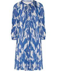 Diane von Furstenberg New Fleurette Printed Silk-chiffon Dress - Lyst