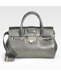Jimmy Choo Rosalie Metallic Leather Satchel - Lyst