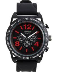 Titanium Round Rubber Strap Watch - Lyst