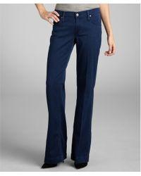 James Jeans Indigo Stretch Denim 'Fly Boy' Flare Leg Trouser Jeans - Lyst