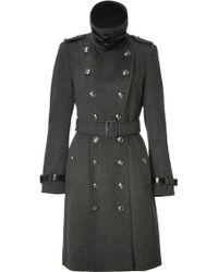 Burberry Dark Charcoal Duncannon Coat - Lyst