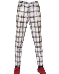 Manuel Vanni Checked Wool Trousers - Lyst