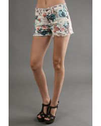 Free People Floral Short in Turquoise Combo floral - Lyst