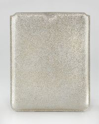 Jimmy Choo - Tyler Glittery Leather Ipad Sleeve - Lyst