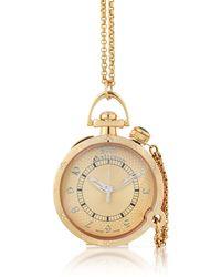 John Galliano - Womens Diamond Rose Gold Plated Watch W Chain - Lyst