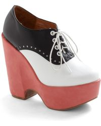 ModCloth Saddle Up High Wedge multicolor - Lyst