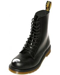 Dr. Martens Steel Toe Matt Leather Boots - Lyst